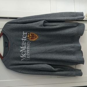 McMaster University pullover sweater heather grey
